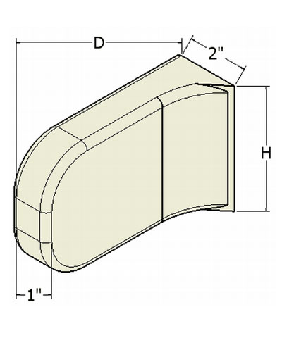 Contoured Lateral Hip/Thigh Support Pads Mounted From The Seat