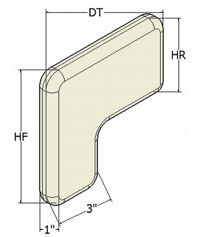 L-Shaped Lateral Knee Support Pads