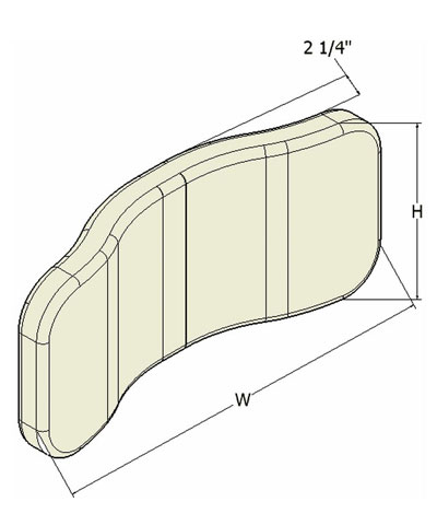 BioCurve Headrest Pad